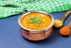 Indian Food Vegetable Sambar. Indian sambar, a traditional and popular semi-liquid food, made with vegetables, lentils and sambar powder Royalty Free Stock Photos