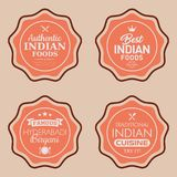 Indian Foods Vector Badges. Set of Indian Foods Badges. Vector illustration Stock Photo