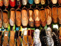 Indian Footwear. Known as chappals for sale in a shop Royalty Free Stock Photos