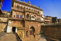Indian Fort. The entrance of the ancient Ramnagar fort in Varanasi, India Stock Image