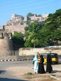 Indian Fort. Golcanda fort in Hyderbad, India Stock Image