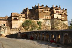 Indian fort in Orchha Stock Image
