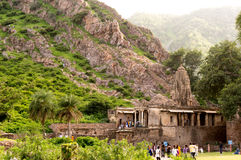 Indian fort situated among hills Royalty Free Stock Photography