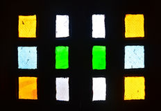 Indian fort window stained glass color Stock Photography