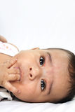 Indian Four-month old Little Baby Royalty Free Stock Photo