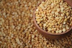 Yellow split peas- Dal royalty free stock image