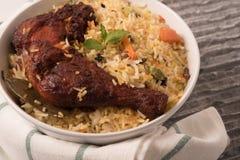 Indian fried Chicken Biryani/Biriyani in a white bowl. Stock Photography