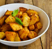 Indian Fried Potato. Indian vegetarian fried potato curry stock photography