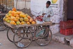 Indian Fruit Cart Stock Photography
