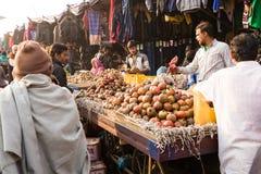 Indian fruit market, Delhi, India Royalty Free Stock Images