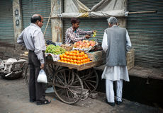 Indian fruit market in Taj Mahal area Royalty Free Stock Photography