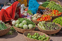 Indian Fruit and Vegetables on Sale Royalty Free Stock Images