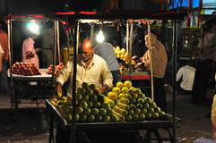 Indian fruit vendor Stock Photos