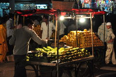 Indian fruit vendor Royalty Free Stock Images
