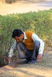 Indian gardener Royalty Free Stock Image