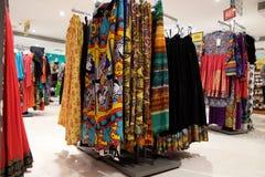 Indian garment shop in New Market area, Kolkata Stock Photos
