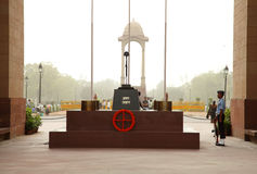 Indian gate is a memorial to soldiers of India Stock Photography