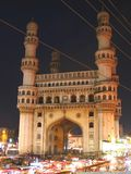 Indian gateway. Charminar - a famous monument in Hyderabad, India Royalty Free Stock Photography