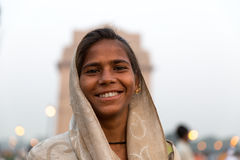 Indian gipsy girl, New Delhi, India Stock Images