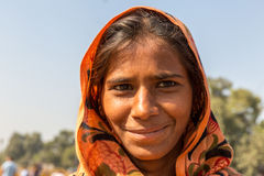 Indian gipsy girl, New Delhi, India Royalty Free Stock Images