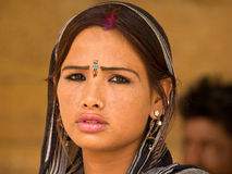 Indian girl. Portrait of a beautiful Indian girl looking sad Stock Photography