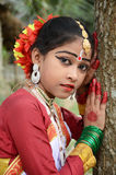 Indian Girl. An adolescent Indian classical dancer girl with traditional dress and ornaments Stock Photography