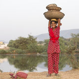 Indian girl at the attended the annual Pushkar Camel Mela. India Stock Images