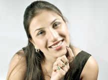 Indian girl with big smile Stock Photos
