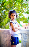 Indian girl child standing Royalty Free Stock Photography