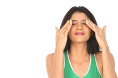 Indian  girl with closed eyes Royalty Free Stock Image