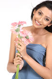 Indian girl with  daisy flowers Royalty Free Stock Photos