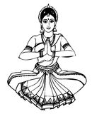 Indian girl - Dancing. The Girl Image is a illustrate image Royalty Free Stock Photography