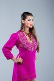 Indian girl dancing Stock Photography