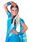 Indian girl in a dancing pose Stock Photos