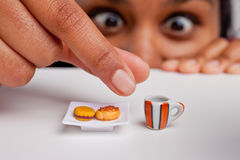 Indian girl on a diet. Indian girl on a severe diet Royalty Free Stock Images
