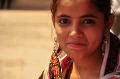 Indian girl with earrings Stock Photography