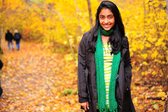 Indian Girl in Fall Season Royalty Free Stock Image