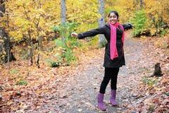 Indian Girl in Fall Season Royalty Free Stock Photo