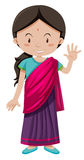 Indian girl with happy face greeting Stock Image