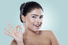 Indian girl with healthy and clean skin Royalty Free Stock Photo