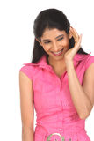 Indian girl in hearing action Stock Image