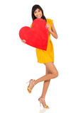 Indian girl heart shape Royalty Free Stock Photo