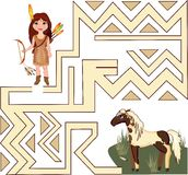Indian girl and Horse Stock Images