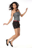 Indian girl in jumping shot Stock Images