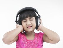 Indian girl listening to music Royalty Free Stock Photos