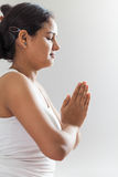 Indian girl in meditation 2 Royalty Free Stock Image