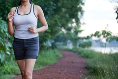 Indian Girl on morning exercise Royalty Free Stock Images