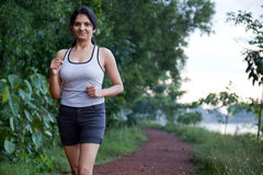 Indian Girl on morning exercise Stock Photography