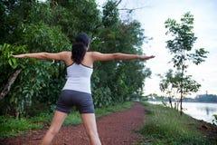 Indian Girl on morning exercise Stock Photos