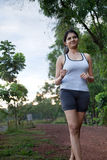 Indian Girl on morning exercise Royalty Free Stock Image